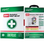 This is an image of Wall Mount First Aid Kits available in metal or plastic from ABL Distribution Pty Ltd