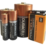 This is an image of duracell batteries in various sizes from ABL Distribution Pty Ltd