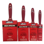 This is an image of red special paint brush, red handle from ABL Distribution Pty Ltd