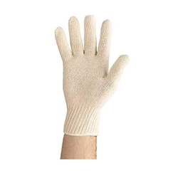 This is an image of Poly Cotton Knit Gloves from ABL Distribution