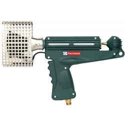 This is an image of PSG-32 Pacmasta Shrink Gas Gun from shrinking plastic onto pallets. Strong, powerful and easy to use from ABL Distribution Pty Ltd