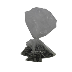 This is an image of clear poly bags 100um thick