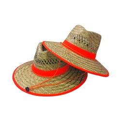 Straw Hat With Orange Band