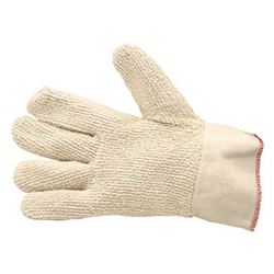 Terry corded cotton hot mill gloves from ABL Distribution Pty Ltd