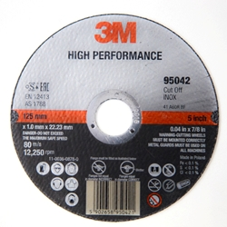 This is an image of 3M High Performance Cut-Off Wheels for Heavy Duty Abrasive Applications from ABL Distribution Pty Ltd