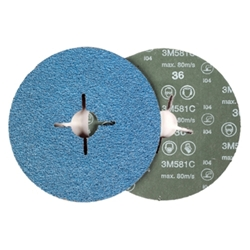 This is an image of 3M Fibre disc 581C for Angle Grinding from ABL Distribution Pty Ltd