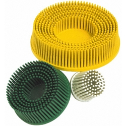 This is an image of Scotch Brite Roloc Bristle Discs use for blneding, finishing, cleaning and removing coat, scratches and rust from all metals - ABL Distribution