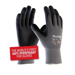 This is an image of maxiflex ultimate gloves are the worlds first antiperspirant gloves from ABL Distribution Pty Ltd