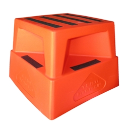 This is an image of Safety step, orange, anti-slip from ABL Distribution Pty Ltd