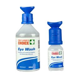 This is an image of Eye shower packs available in 100ml and 500ml bottles from ABL Distribution Pty Ltd