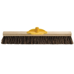 This is an image of natural fibre, 600mm broom head for collecting large and small particle from ABL Distribution Pty Ltd