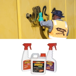 This is an image of Graffiti off removes graffiti from unprotected surfaces such as brick, cement render, timber fences and stone. Purchase online from ABL Distribution Pty Ltd