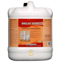 This is an image of Bright bowl toilet and urinal cleaner that is suitable for cleaning all surface in bathrooms and washrooms from ABL Distribution Pty Ltd