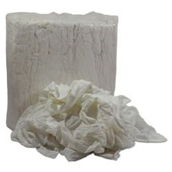 This is an image of White linen sheeting rags, great for detailing and glass industry from ABL Distribution Pty Ltd