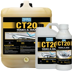 This is an image of CT20 Wash N Wax, a concentrated cleaner that leaves your vehicle shiny and streak free from ABL Distribution Pty Ltd