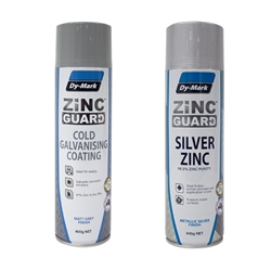 This is an image of Dy-Mark Zinc Guard Primer available in Red, White and Grey suitable for protecting steel surfaces from corrosion from ABL Distribution Pty Ltd