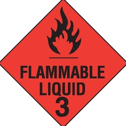 This is an image of Flammable Liquid 3 Label