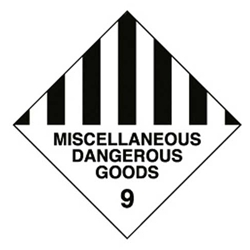 This is an image of Miscellaneous Dangerous Goods 9 from ABL Distribution Pty Ltd