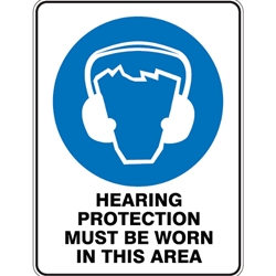 This is an image of Hearing Protection Must Be Worn