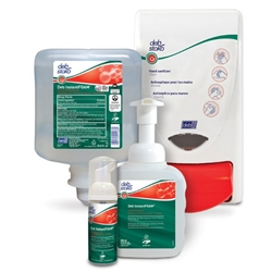 This is an image of Deb Instant foam hand sanitiser and dispenser from ABL Distribution Pty Ltd