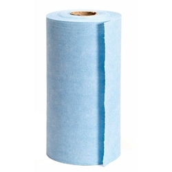 This is an image of Wypall X60 Blue perforated disposable wipes on a roll from ABL Distribution Pty Ltd