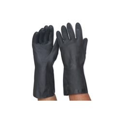 This is an image of Black Neoprene Gauntlet Glove