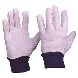 This is an image of Cotton Drill Blue Wrist Gloves from ABL Distribution Pty Ltd