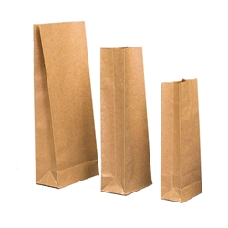Block Bottom Sos Brown Paper Checkout Bags