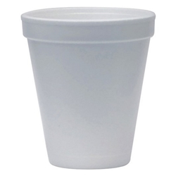 This is an image of Eco-friendly foam coffee cups that are made from biodegradable foam from ABL Distribution Pty Ltd