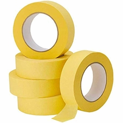 This is an image of 91 Yellow Auto Grade Masking Tape