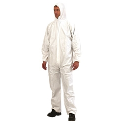 This is an image of Disposable Coveralls White