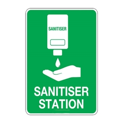 "This is an image of Sanitiser Station"" 300Mmx225mm"" from ABL Distribution Pty Ltd"