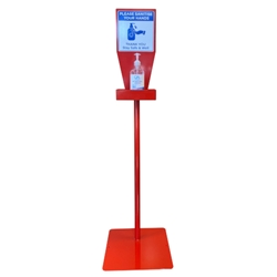 This is an image of Factory Free Standing Hand Sanitiser Station from  ABL Distribution Pty Ltd