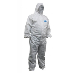 This is an image of Maxisafe 'Chemguard' White Coveralls from ABL Distribution Pty Ltd