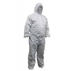 This is an image of Maxisafe Polypropylene White Coverall from ABL Distribution Pty Ltd