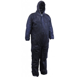 This is an image of Maxisafe Polypropylene Blue Coverall from ABL Distribution Pty Ltd
