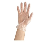Clear Powdered Disposable Vinyl Gloves