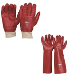 Red Pvc Chemical Gloves