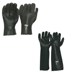 Green Double Dipped Pvc Chemical Gloves