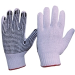 Polka Dot Knit/pvc Gloves