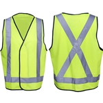 This is an image of Fluoro Yellow Safety Vest - Day/Night Use from ABL Distribution Pty Ltd