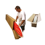 This is an image of a surfboard carton manufactured by ABL Distribution