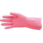 Pink Rubber Gloves Silver Lined