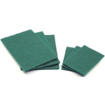 This is an image of 3M #230 Green Scourer Pads from ABL Distribution Pty Ltd