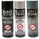 This is an image of Black Galvanising Spray from ABL Distribution Pty Ltd