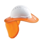 This is an image of Plastic Hard Hat Brim from ABL Distribution Pty Ltd
