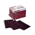 This is an image of hand sanding, fine scourer, maroon scourer from ABL Distribution Pty Ltd