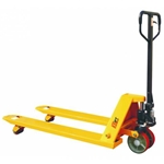 This is an image of a pallet jack, otherwise known as a pallet truck from ABL Distribution Pty Ltd
