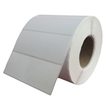 This is an image of Plain white labels for thermal transfer printers from ABL Distribution Pty Ltd