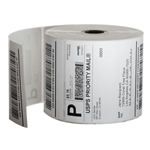 This is an image of Plain white labels for thermal direct printers from ABL Distribution Pty Ltd